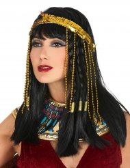 Cinta lentejuelas serpiente egipcia dorada mujer