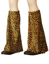 Polainas disco leopardo adulto