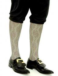 Calcetines blancos medievales con puntilla hombre