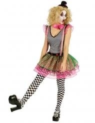 Disfraz payaso arlequín colorido mujer