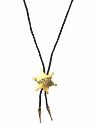 Collar sheriff dorado adulto