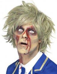 Peluca corta rubia zombie hombre Halloween