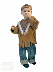 Disfraz indio western para niño marrón