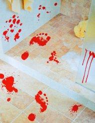 2 Pegatinas huellas sangrientas