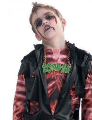 Collar zombie verde Halloween