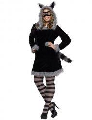 Disfraz de mapache mujer