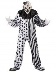 Disfraz de payaso monstruoso negro y blanco