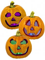 Calabaza purpurina luminoso Halloween