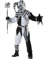 Disfraz de arlequín maléfico negro y blanco
