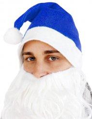 Gorro de Navidad azul adulto
