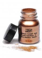 Maquillaje polvo dorado