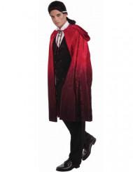 Capa de vampiro rojo y negro con capucha