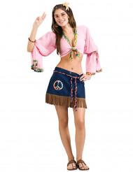 Disfraz mujer sexy hippie años 60