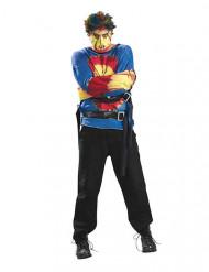 Disfraz hombre psicópata Halloween multicolor