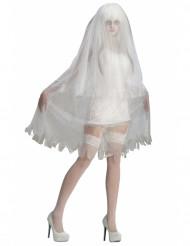 Disfraz fantasma de novia mujer