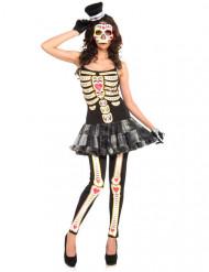 Disfraz esqueleto vestido mujer Día de los muertos
