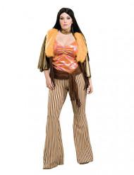 Disfraz mujer hippie años 60 - talla grande