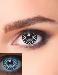 Lentillas fantasía UV a cuadros negro y blanco adulto