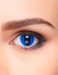 Lentillas fantasía ojo reptil azul adulto