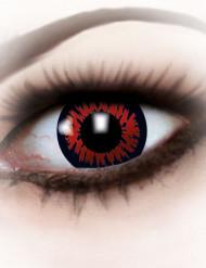 Lentillas fantasía ojo de hombre lobo rojo Halloween adulto