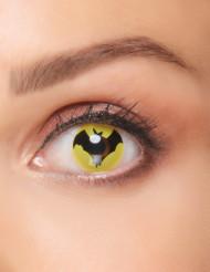 Lentillas fantasía murciélago negro adulto Halloween