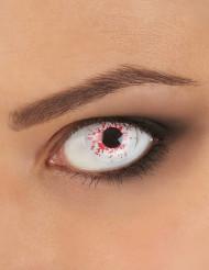 Lentillas fantasía ojo ensangrentado 1 año adulto Halloween