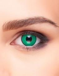Lentillas fantasía verde y negro adulto
