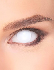 Lentilla fantasia ojo blanco opaco adulto