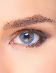 Lentillas fantasía azul eléctrico para adulto