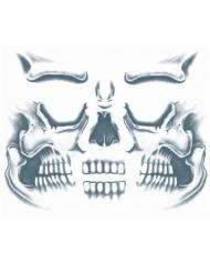 Tatuaje efímero rostro esqueleto adulto