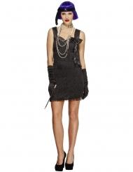 Disfraz charlestón con lazo negro mujer
