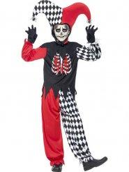 Disfraz de bufón terrorífico niño Halloween
