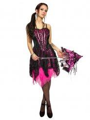 Disfraz gótico rosa y negro mujer
