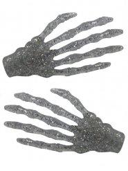 2 Pinzas para pelo mano esqueleto