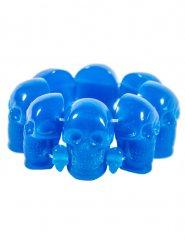 Brazalete gótico calavera azul