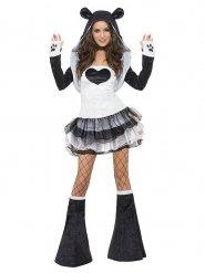 Disfraz panda sexy en tutu mujer