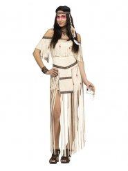 Disfraz india flecos largos mujer