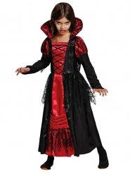 Disfraz vampiro negro y rojo niña