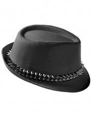 Sombrero punk con clavos negros