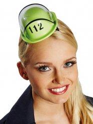 Mini casco de bombero mujer verde