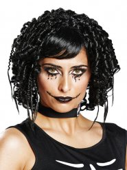 Peluca gótica negra mujer