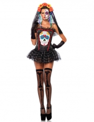 Corsé esqueleto colorido mujer Día de los muertos