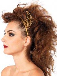 Diadema alas doradas mujer