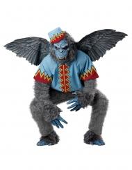 Disfraz mono volador gris hombre