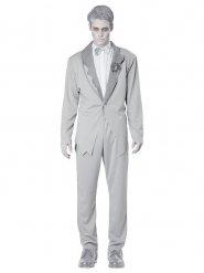 Disfraz novio fantasma gris hombre