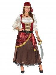 Disfraz pirata de los mares lujo mujer