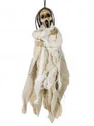 Decoración esqueleto muerto blanco 40 x 20 cm