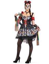 Disfraz Día de los muertos colores para mujer