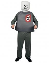 Disfraz de personaje bloque zombie Hallowen