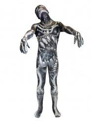 Disfraz Morphsuits™ monstruo esqueleto niño Halloween negro gris